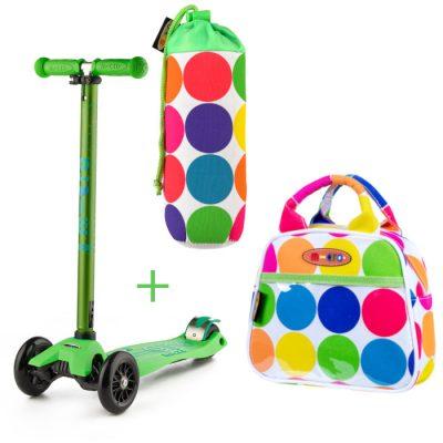 Komplet skiro maxi zelen & torbica & držalo za plastenke pike