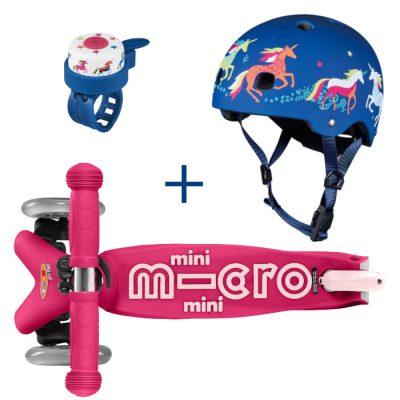 Komplet Mini roza & zvonček & čelada Samorogi