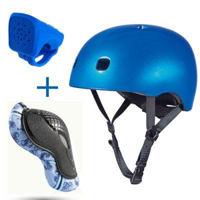 Komplet čelada S & ščitniki XS & hupa modra